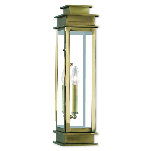 Livex Lighting Livex Lighting Princeton Antique Brass Outdoor Wall Light 20207-01