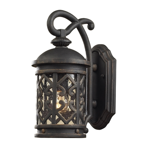 Elk Lighting Outdoor Wall Light with Clear Glass in Weathered Charcoal Finish 42060/1