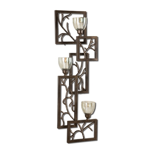Uttermost Lighting Candle Holder in Dark Bronze Finish 19736