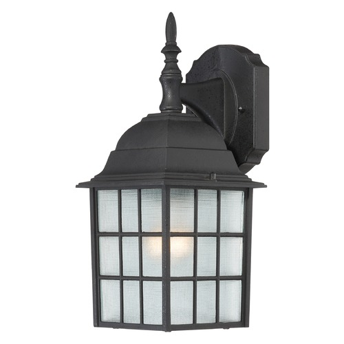 Nuvo Lighting Outdoor Wall Light with White Glass in Textured Black Finish 60/4906