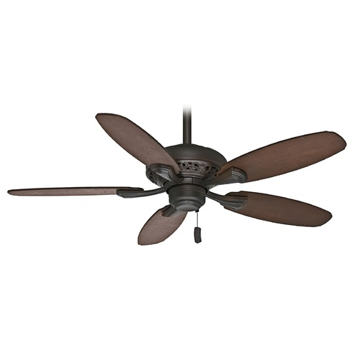 Casablanca Fan Co Casablanca Fan Fordham Brushed Cocoa Ceiling Fan Without Light 53195