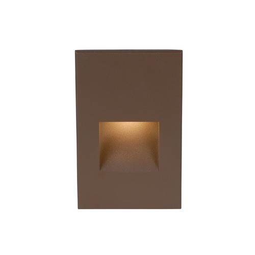 WAC Lighting WAC Lighting Ledme Bronze LED Recessed Step Light with Red LED WL-LED200-RD-BZ