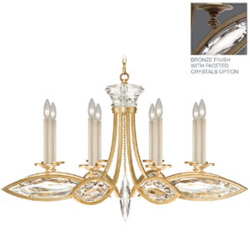 Fine Art Lamps Fine Art Lamps Marquise Antique Hand Rubbed Bronze Crystal Chandelier 843940-32ST