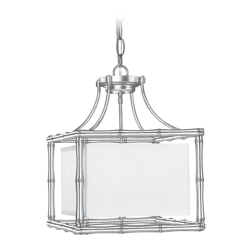 Crystorama Lighting Crystorama Lighting Masefield Antique Silver Pendant Light with Square Shade 9014-SA