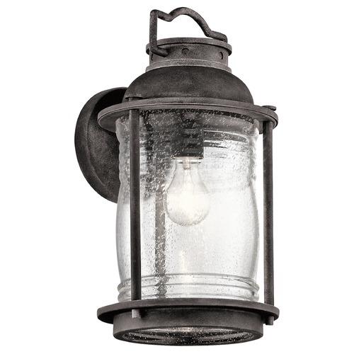 Kichler Ashland Bay Outdoor Pedestal Lantern Weathered: Kichler Lighting Ashland Bay Outdoor Wall Light