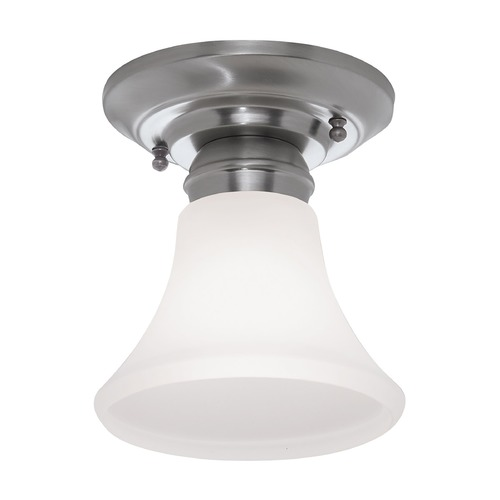 Norwell Lighting Norwell Lighting Mercer Polished Nickel Semi-Flushmount Light 5371-PN-FL