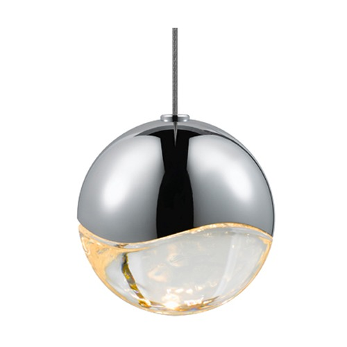 Sonneman Lighting Sonneman Grapes Polished Chrome 1 Light LED Mini-Pendant Light   2910.01-MED