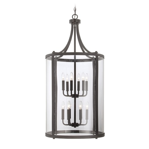 Savoy House Savoy House English Bronze Pendant Light with Cylindrical Shade 7-1042-12-13