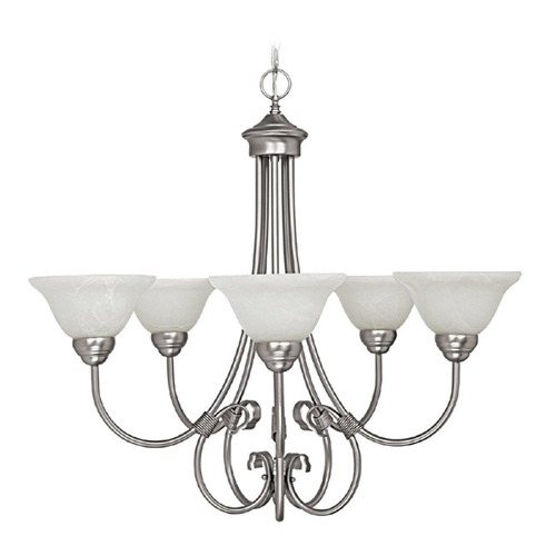 Capital Lighting Capital Lighting Hometown Matte Nickel Chandelier 3226MN-220