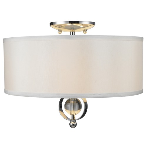Golden Lighting Golden Lighting Cerchi Chrome Semi-Flushmount Light 1030-FM CH
