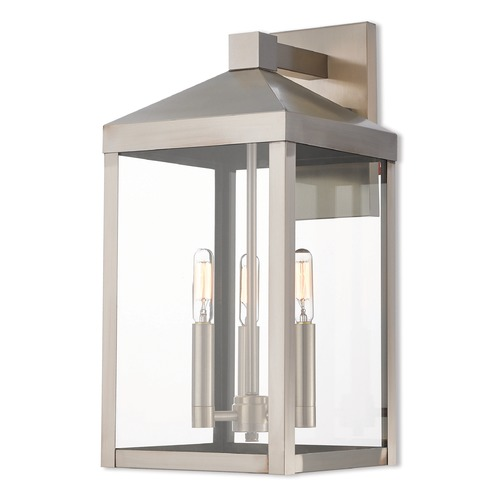 Livex Lighting Livex Lighting Nyack Brushed Nickel Outdoor Wall Light 20584-91