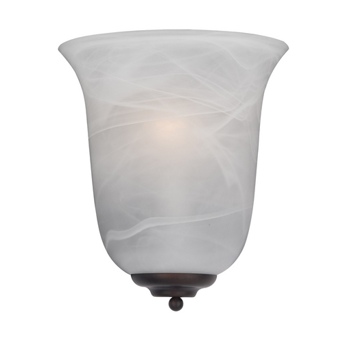 Maxim Lighting Sconce Wall Light with White Glass in Oil Rubbed Bronze Finish 20580MROI