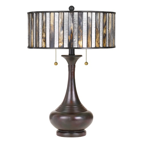 Quoizel Lighting Tiffany Table Lamp Bronze Tiffany by Quoizel Lighting TF3334TVA