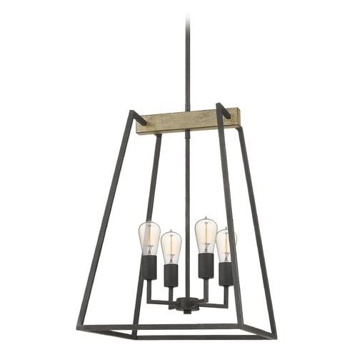 Quoizel Lighting Quoizel Lighting Brockton 4-Light Retro Grey Ash Mini-Chandelier BRT5204GK