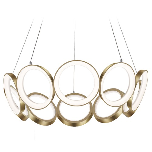 Kuzco Lighting Kuzco Lighting Oros Antique Brass LED Chandelier CH94829-AN