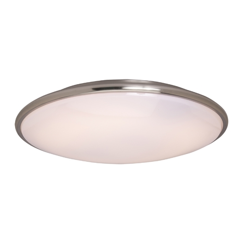 Maxim Lighting Modern Flushmount Light with White Acrylic in Satin Nickel Finish 87210SN