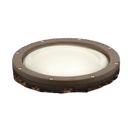 Kichler Lighting Kichler In-Ground Well Light with White Glass in Bronze Finish 15266AZ
