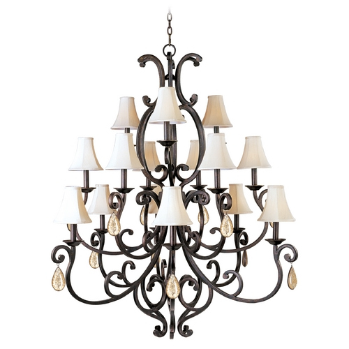 Maxim Lighting Maxim Lighting Richmond Colonial Umber Chandelier 31007CU/CRY095/SHD62