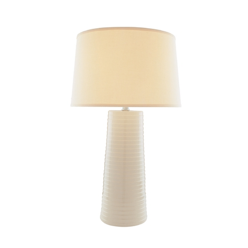 Lite Source Lighting Lite Source Lighting Ashanti Ivory Table Lamp with Drum Shade LS-20830IVY