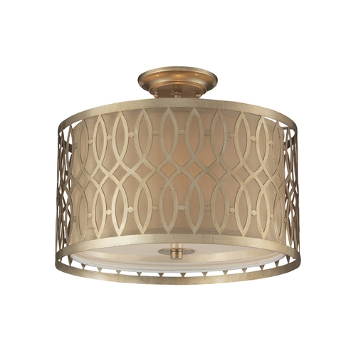 Elk Lighting Modern Semi-Flushmount Lights in Aged Silver Finish 31122/3