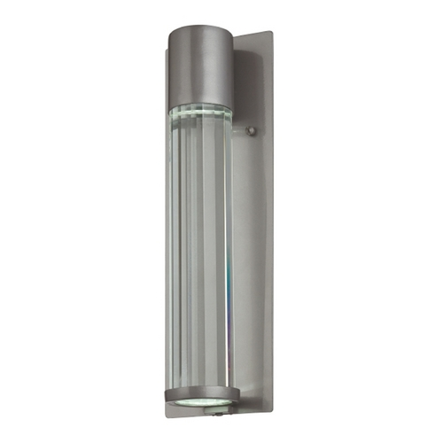 Minka Lavery Modern Outdoor Wall Light with Clear Glass in Tinted Silver Finish 72322-247