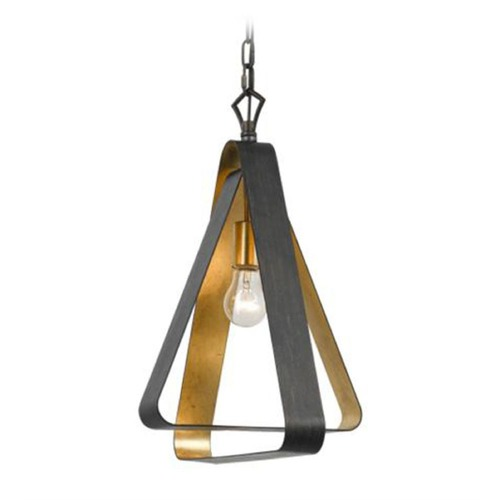 Crystorama Lighting Crystorama Luna Pendant Light in Antique Bronze with Gold 591 EB-GA