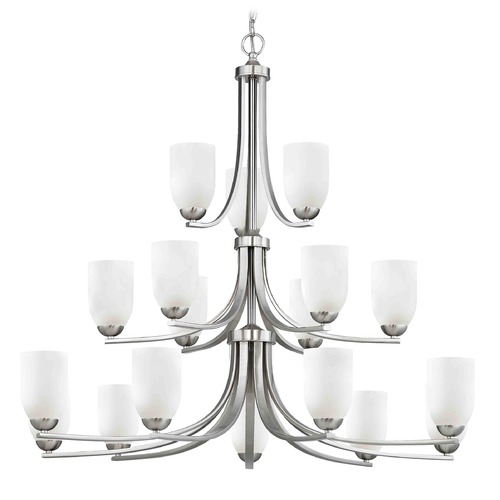Design Classics Lighting Satin Nickel Chandelier 5863-09 GL1028D