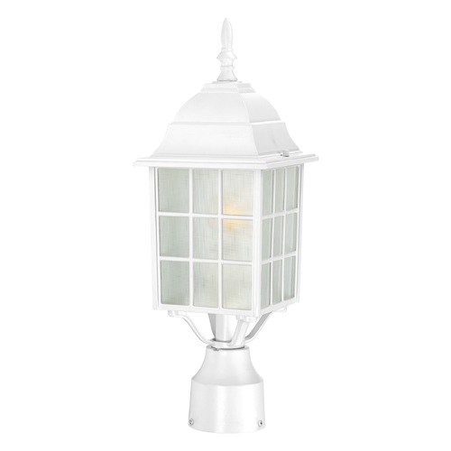 Nuvo Lighting Post Light with White Glass in White Finish 60/4907