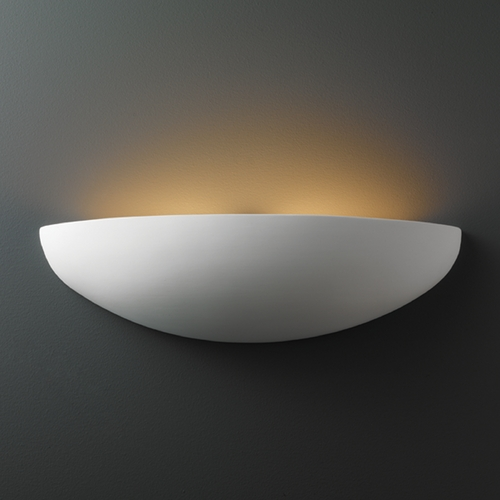 Justice Design Group Sconce Wall Light in Bisque Finish CER-5300-BIS