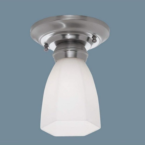 Norwell Lighting Norwell Lighting Mercer Polished Nickel Semi-Flushmount Light 5371-PN-HXO