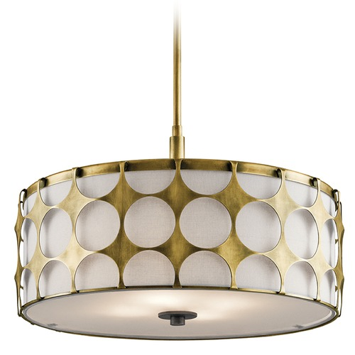Kichler Lighting Kichler Lighting Charles Pendant Light with Drum Shade 43276NBR