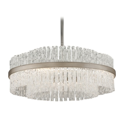 Corbett Lighting Corbett Lighting Chime Silver Leaf with Polished Stainless Accents Pendant Light 204-46