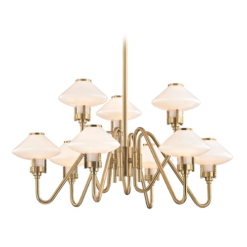 Hudson Valley Lighting Hudson Valley Lighting Knowles Aged Brass LED Chandelier 2009-AGB