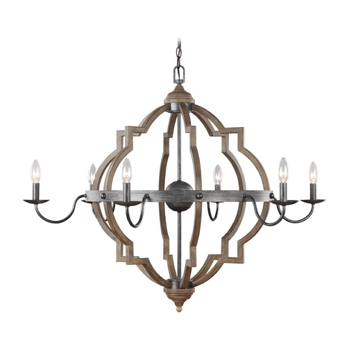 Sea Gull Lighting Sea Gull Lighting Socorro Stardust / Cerused Oak Chandelier 3224906-846