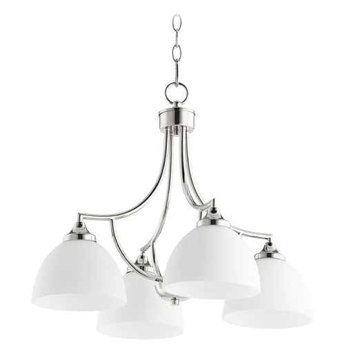 Quorum Lighting Quorum Lighting Enclave Polished Nickel Chandelier 6459-4-62