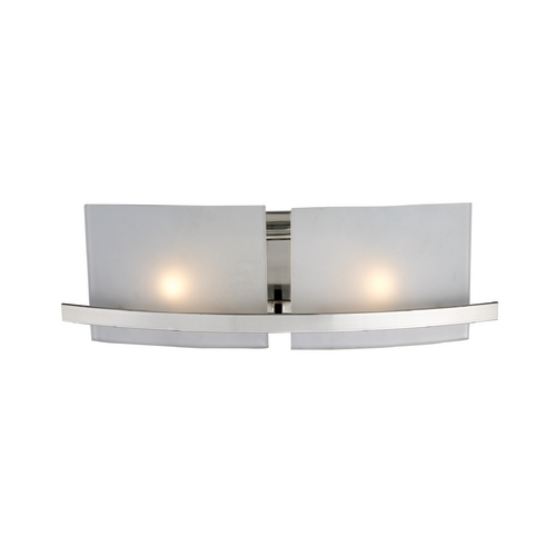 Elk Lighting Modern Bathroom Light with White Glass in Satin Nickel Finish 11281/2