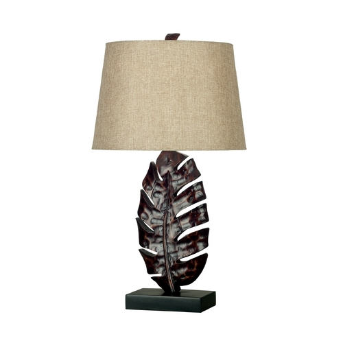 Kenroy Home Lighting Table Lamp in Mottled Bronze Finish 21050MB