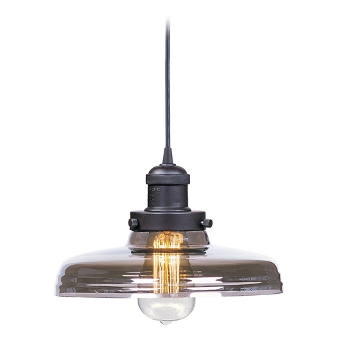 Maxim Lighting Maxim Lighting Mini Hi-Bay Bronze Mini-Pendant Light with Bowl / Dome Shade 25027MSKBZ