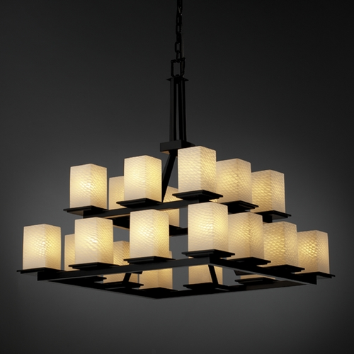 Justice Design Group Justice Design Group Fusion Collection Chandelier FSN-8667-15-WEVE-MBLK