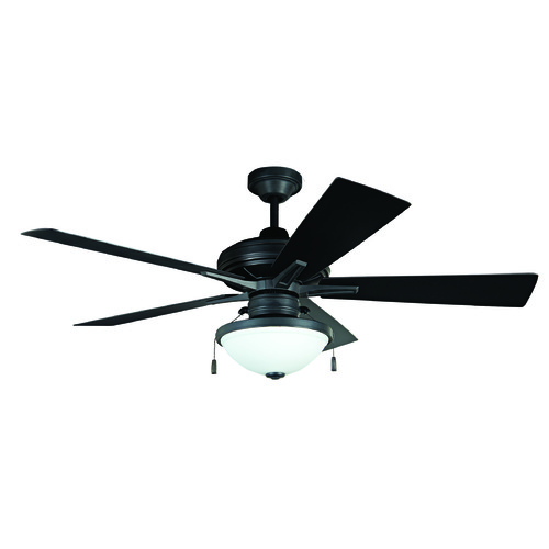 Craftmade Lighting Craftmade Lighting Riverfront Aged Bronze Brushed Ceiling Fan with Light RVF52ABZ5