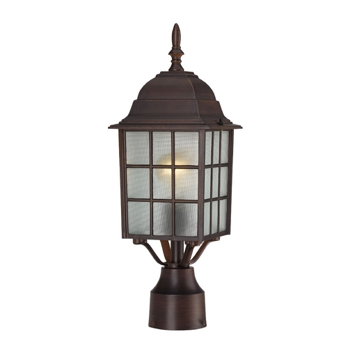 Nuvo Lighting Post Light with White Glass in Rustic Bronze Finish 60/4908