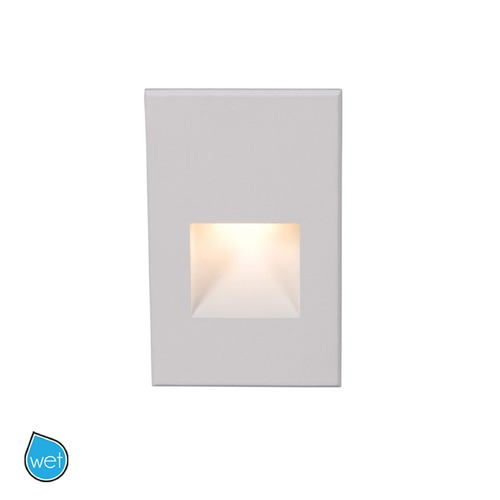 WAC Lighting WAC Lighting Ledme White LED Recessed Step Light with Red LED WL-LED200-RD-WT