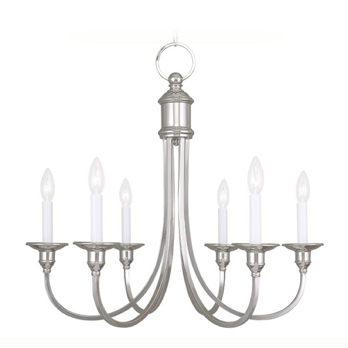 Livex Lighting Livex Lighting Cranford Polished Nickel Chandelier 5146-35