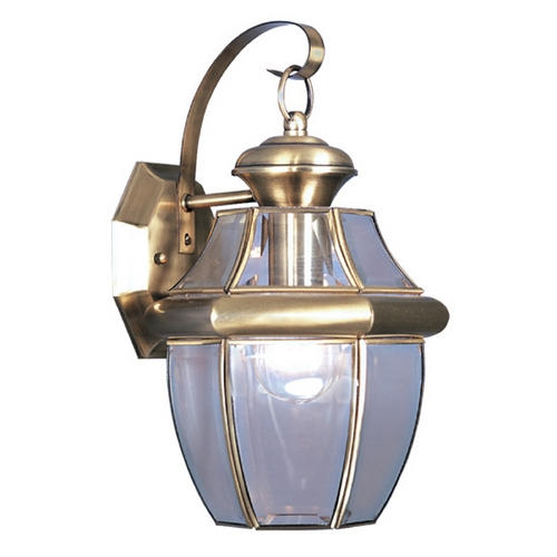 Livex Lighting Livex Lighting Monterey Antique Brass Outdoor Wall Light 2151-01