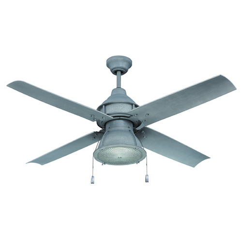 Craftmade Lighting Craftmade Lighting Port Arbor Aged Galvanized Ceiling Fan with Light PAR52AGV4