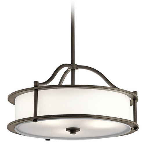 Kichler Lighting Kichler Lighting Emory Pendant Light with Drum Shade 43707OZ