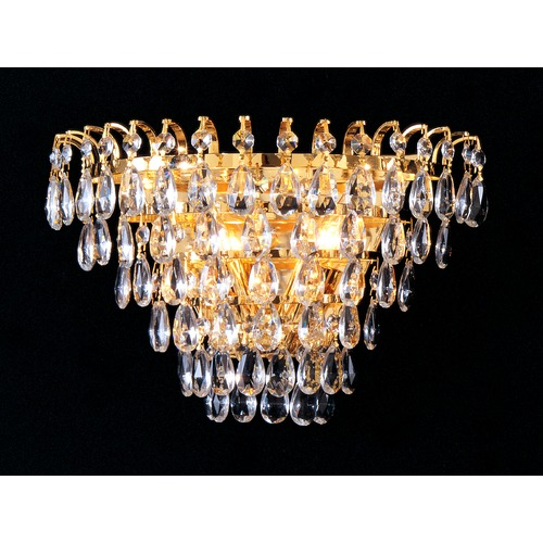Crystorama Lighting Crystorama Lighting Hot Deal Gold Sconce 3502-GD-CL-MWP