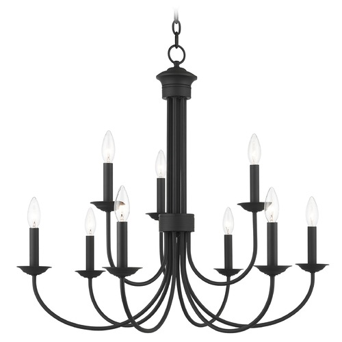 Livex Lighting Livex Lighting Estate Black Chandelier 42687-04