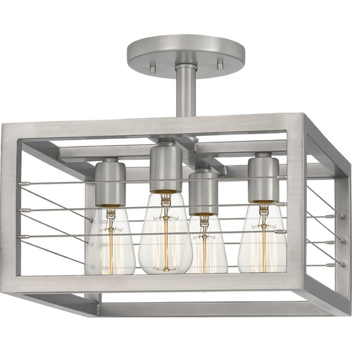 Quoizel Lighting Quoizel Lighting Awendaw Antique Nickel Semi-Flushmount Light AWD1714AN