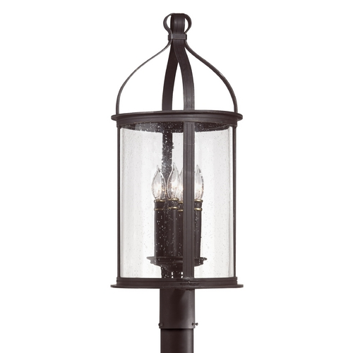 Troy Lighting Post Light with Clear Glass in Federal Black Finish P9475FBK